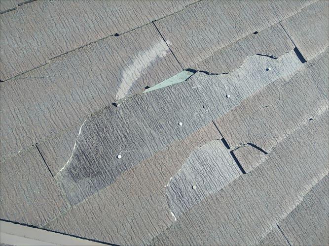 屋根材 割れ