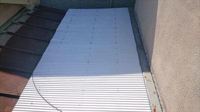 屋根取合の谷補修完了