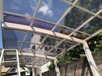 隣家 カーポート屋根完了