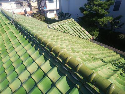 葺き替え工事 工事前 瓦屋根