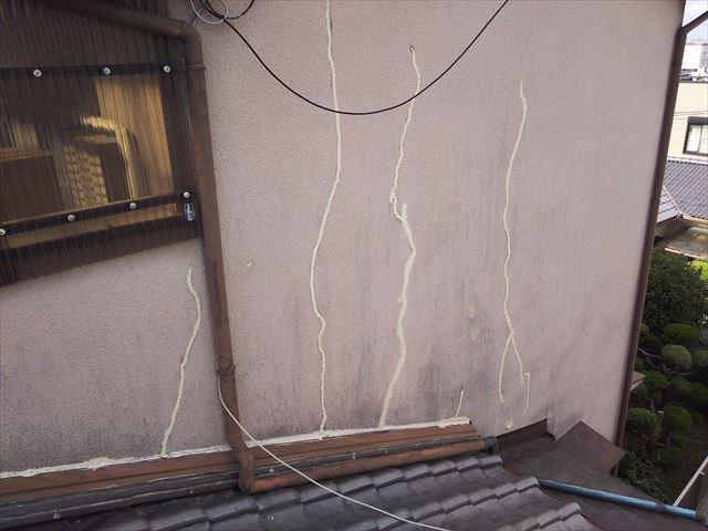 屋根・壁取合い板金完了全景
