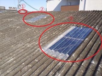 スレート屋根各所修理完了