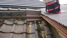 大屋根取り合い板金仕舞