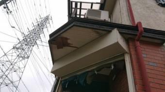軒天破損状態