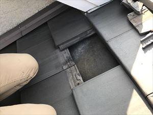 屋根 現地調査 瓦割れ