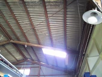 スレート屋根明り取り確認