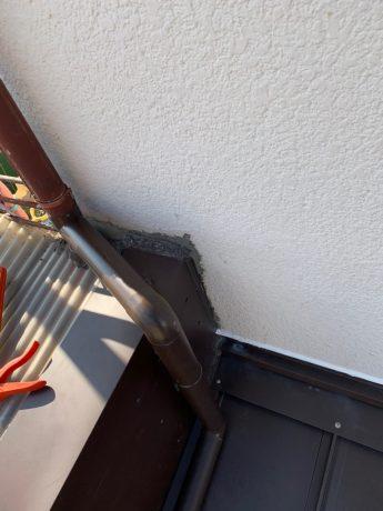 大屋根樋改修と立上り壁仕舞