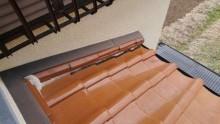 下屋のし瓦ズレと漆喰劣化状況