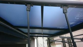 テラス屋根取付完了