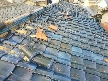 大屋根被害状況