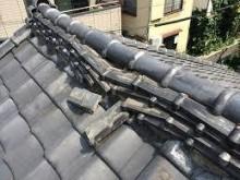 棟瓦の被害