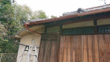 軒・予備樋改修完了