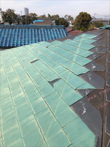 屋根材 飛散箇所