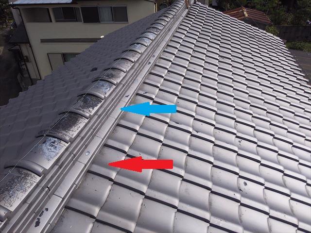 大屋根棟周り瓦