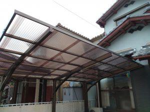 カーポート屋根 波板張替完了