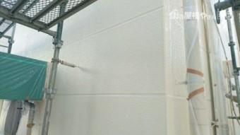 外壁中塗状態