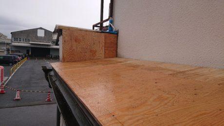 屋根木下地 合板張り