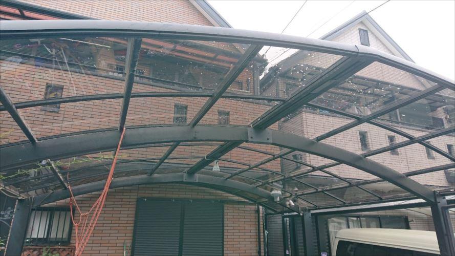 カーポート屋根 復旧