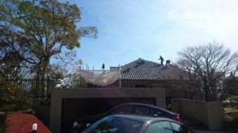 屋根撤去風景