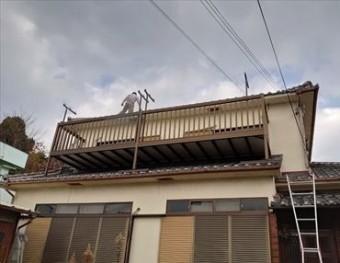 現地調査 雨漏り 台風被害