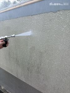 擁壁塗装 高圧洗浄
