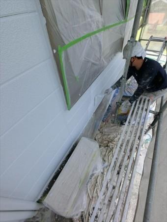 外壁塗装 上塗り状況