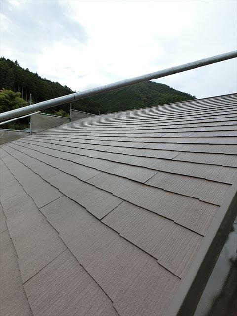 屋根塗装 上塗り完了