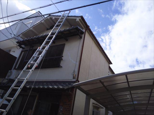 建物全景 梯子設置状況