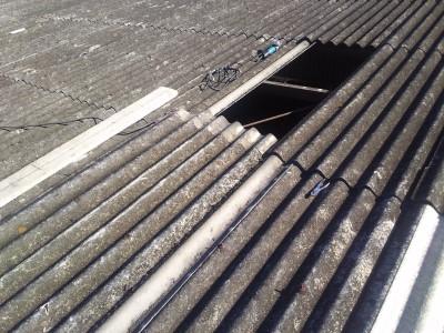 工場波板スレート屋根 補修工事