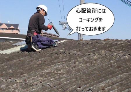 屋根補修 コーキング 心配箇所
