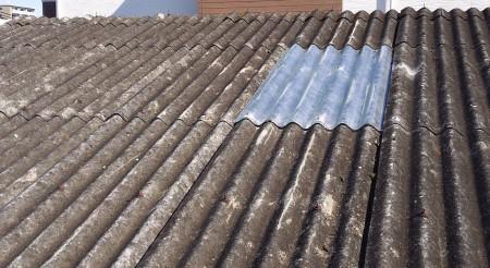 工場スレート屋根 ポリカ補修 完了