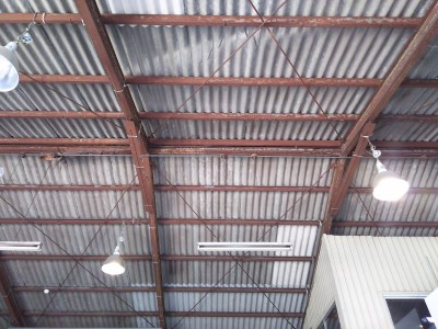 工場 屋根工事 補修完了
