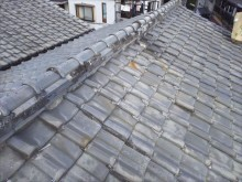 大屋根調査 瓦