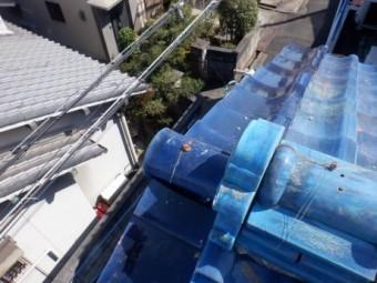 ケラバ・巴・鬼瓦の修復葺き
