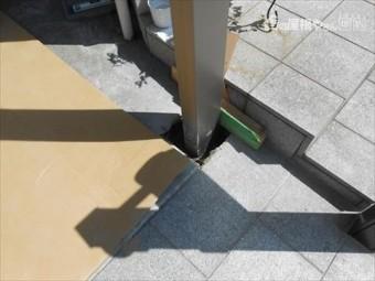 カーポート支柱設置状況