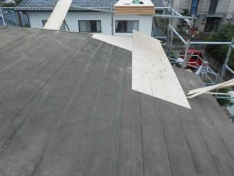 大屋根 コンパネ 施工