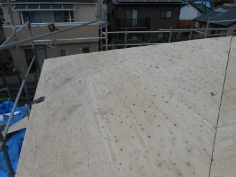 大屋根 コンパネ 施工完了