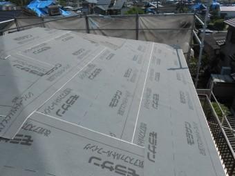 屋根 ルーフィング施工完了