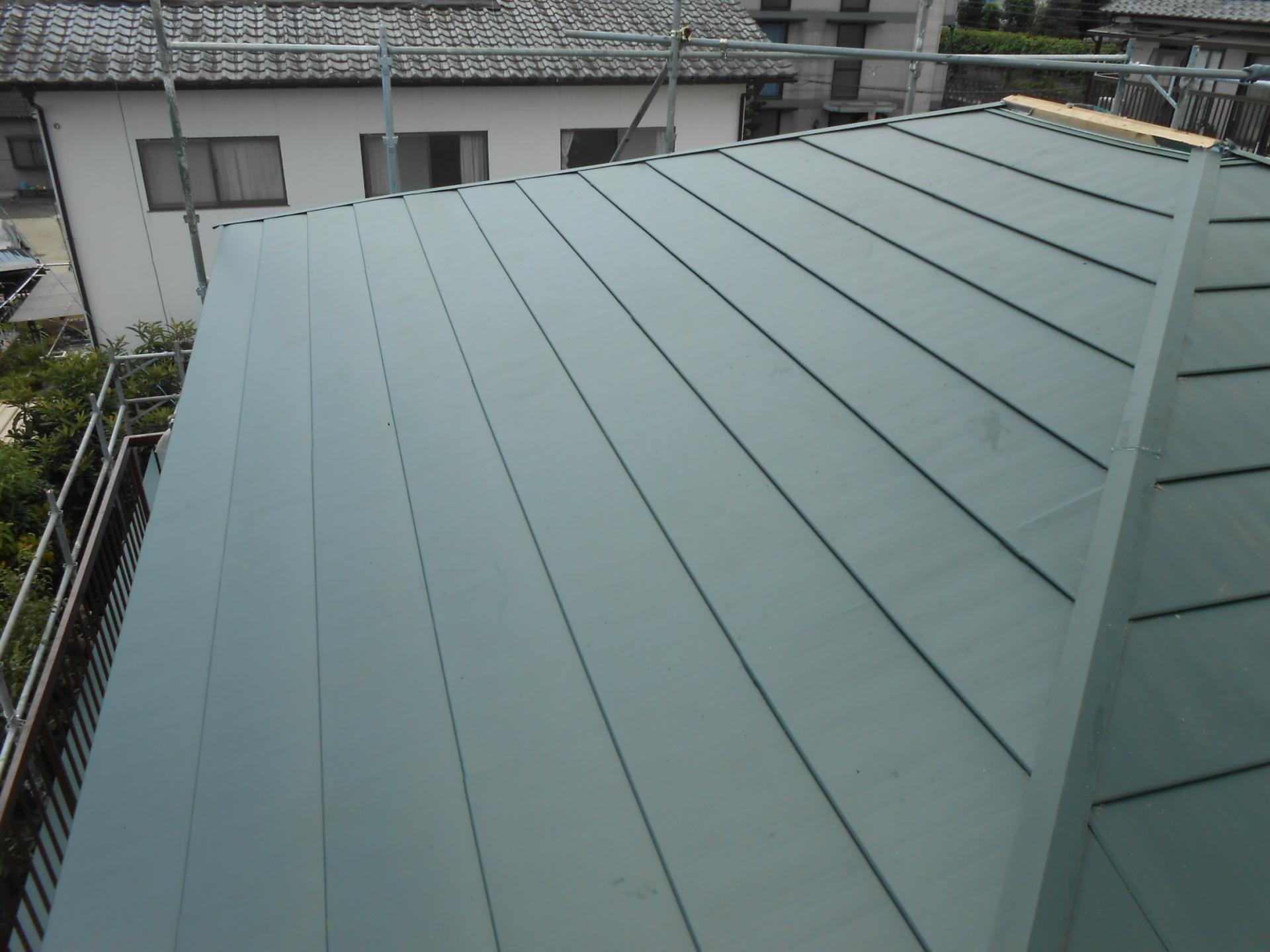 屋根 横暖ルーフ 施工完了