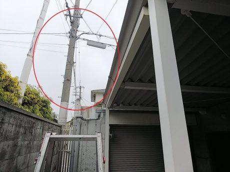 駐車場屋根の現況