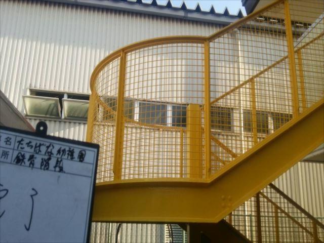鉄骨階段横面塗装完了写真