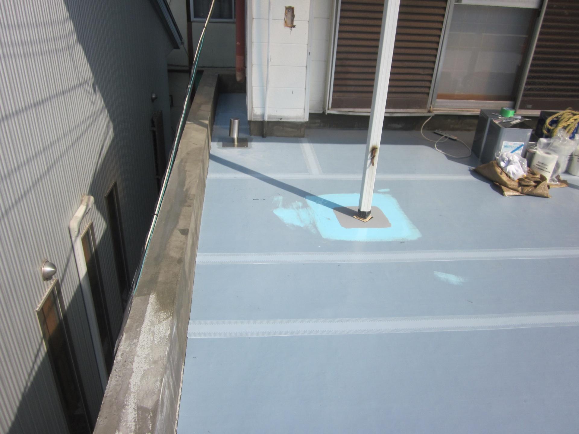 2階ベランダ 防水施工状況