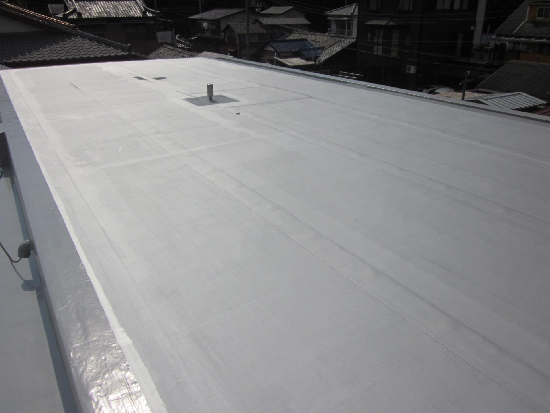 屋上シート防水完了