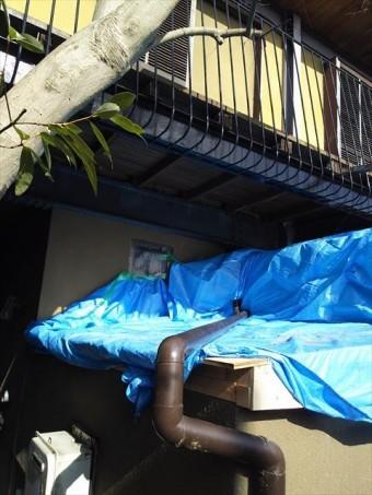 屋根覆い木下地にて成型