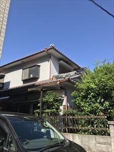 屋根 鬼瓦落下