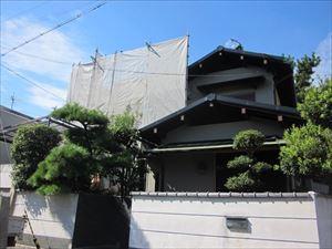 大阪府高石市羽衣にて屋根(谷樋部)から雨漏れが発生!カバー工法による改修工事に着手!