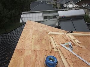 構造用合板貼り