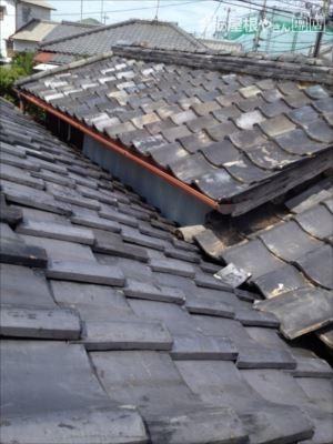 屋根取り合い 板金張付け 完了