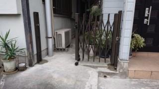 門扉・柱建込み完了