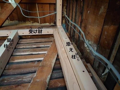 耐力壁 添え柱 間柱 受け材